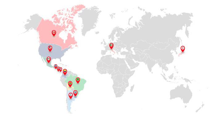 Mapa profesorado